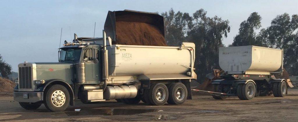 Meza Trucking hauls dirt