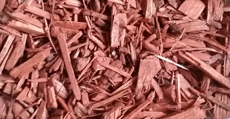Bark and Mulch - Red Color Chip