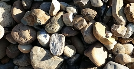 Rock Decorative and Stone - 2x4 Inch Brown Cobbles